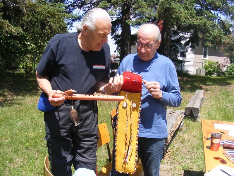 Dan and Algonquin Elder Skip Ross